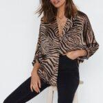 Diseños de blusas con animal print