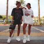 Maxi blusas como vestido y tenis