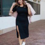 Outfits con vestidos largos sencillos y tenis